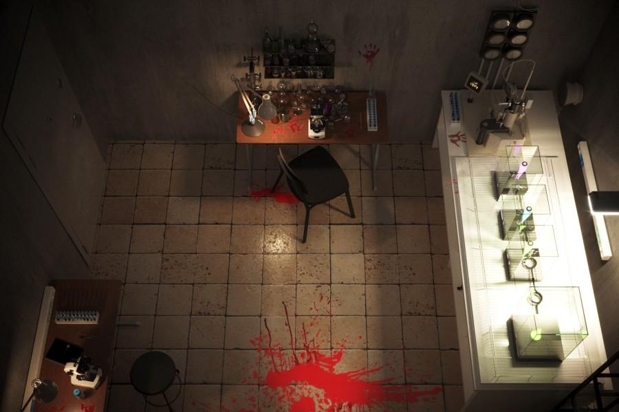 przykładowy pokój do gry escape room